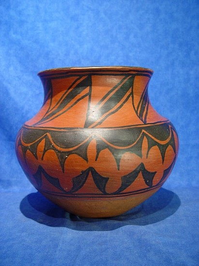 "03 - Pueblo Pottery, Important San Ildefonso Pottery: c. 1890-1910 Olla Attributed to Marianita Roybal, Black on Red (10.25"" ht x 11.5"" d) c. 1890-1910, Hand coiled clay pottery"