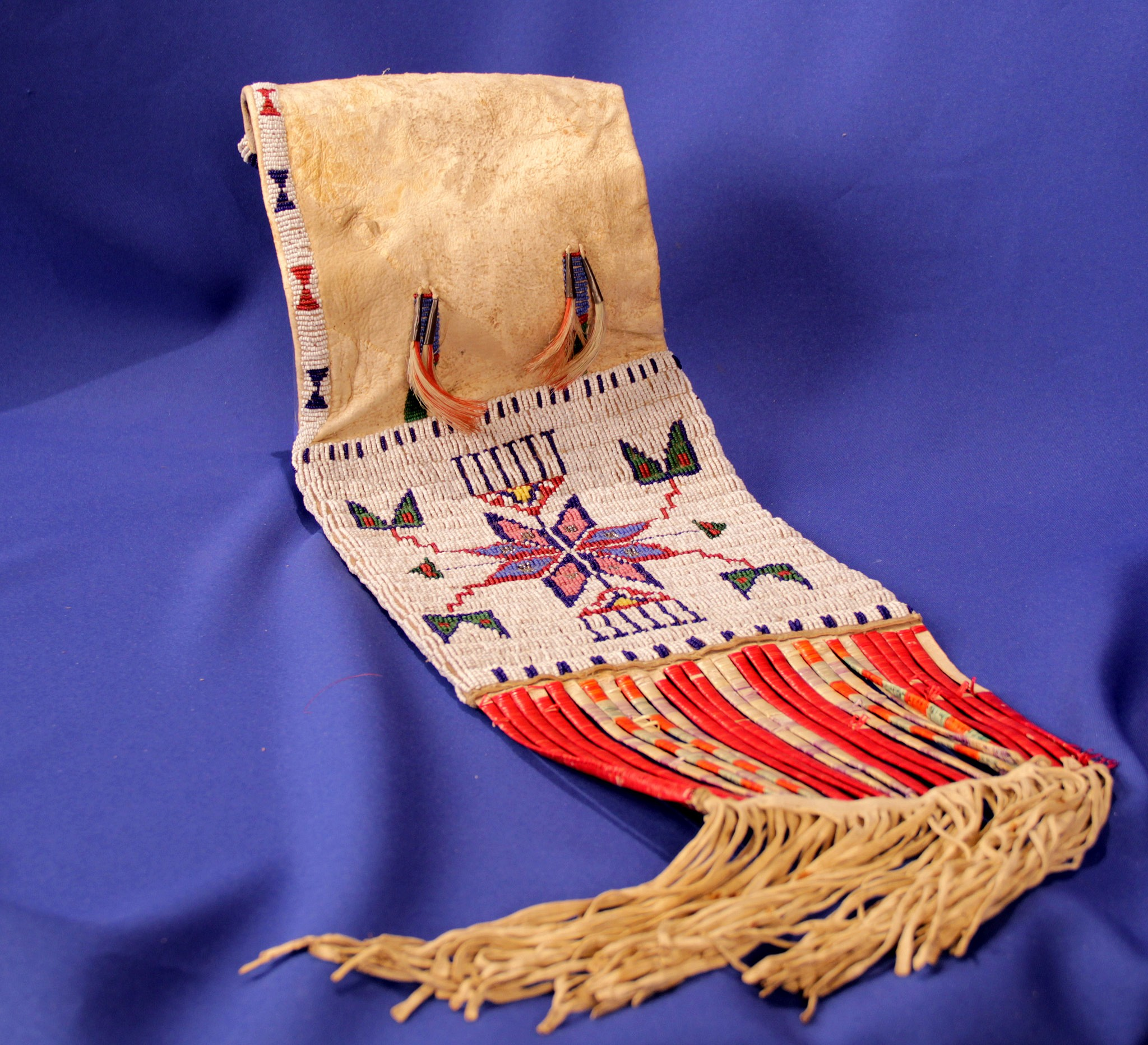 e6cce52faa792 09 - Beadwork | Late 19th c Sioux Quill and Beaded Pipe Bag, c ...