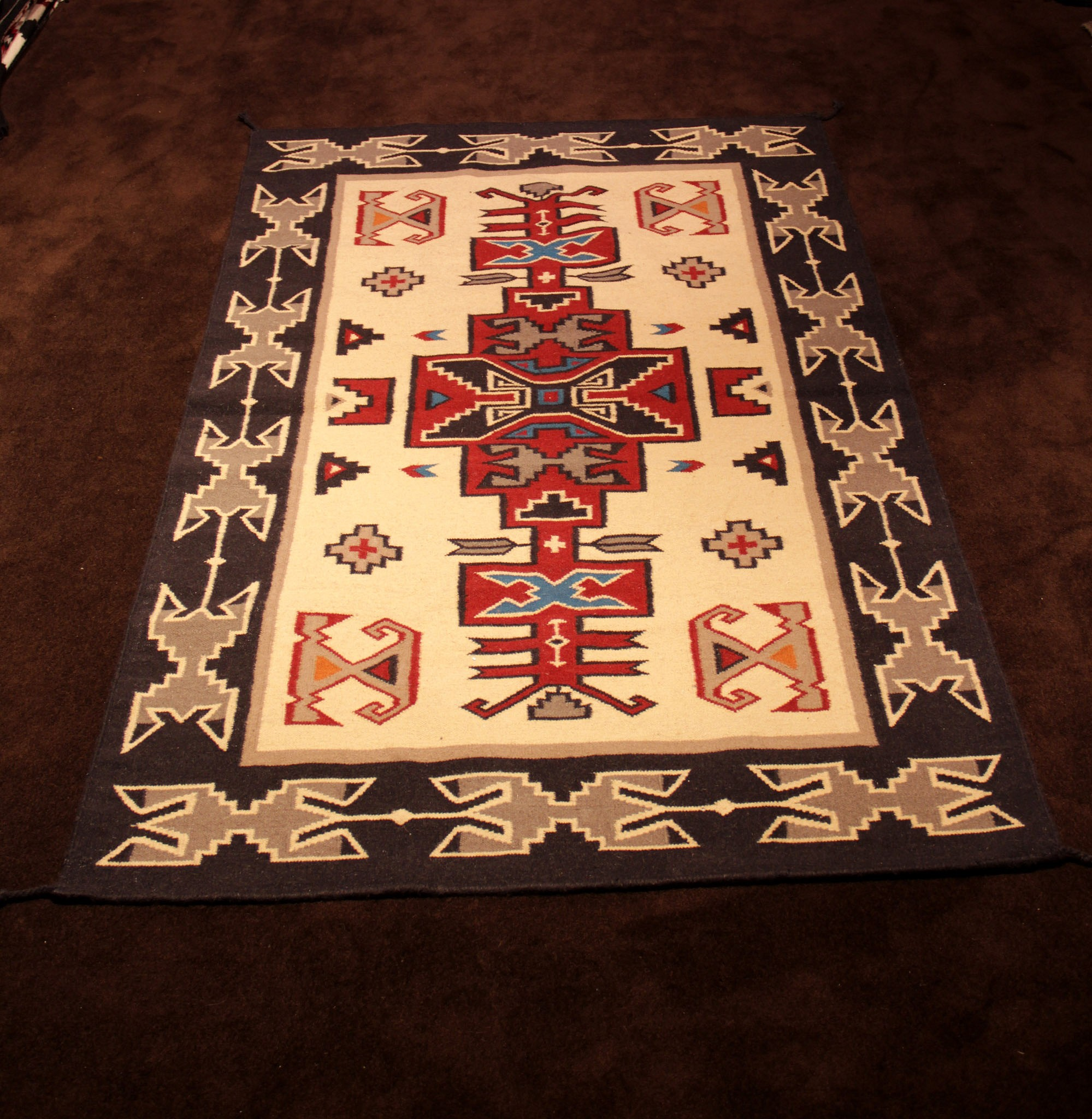 historic htm yeibichei photo for rugs pictorial large navajo rug sale circa