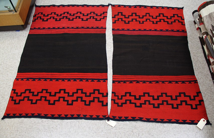 01 - Navajo Textiles, Rare Classic Period Navajo Two-Piece Navajo panel dress pre 1870