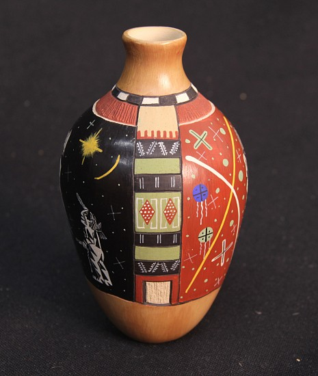 "03 - Pueblo Pottery, Exceptional Hopi Pottery: ""I Am the One"" by Lawrence Namoki (6"" ht x 3.5"" d)"