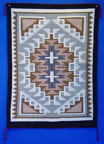 "01 - Navajo Textiles, Navajo Two Gray Hills Rug by Ruth Ann Begay, Mint condition. 31""x42"" Fine and intricate 1980, Handspun wool"