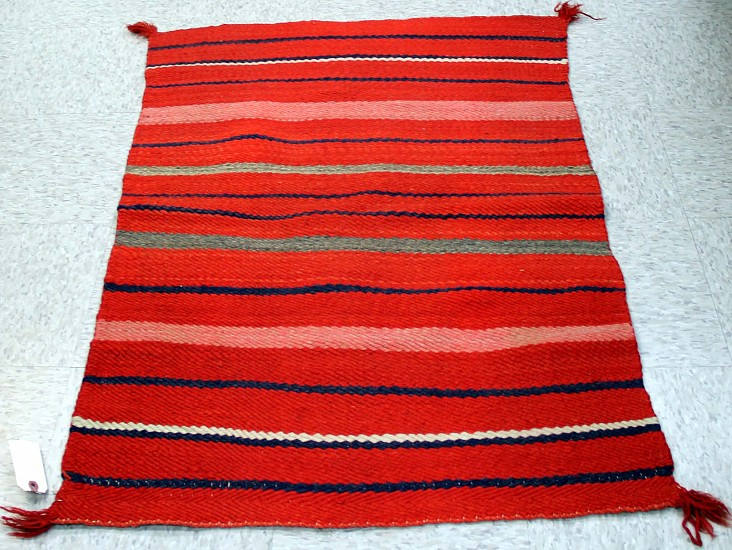 01 - Navajo Textiles, c1880 Transitional Navajo Diagonal Twill Weave Double Saddle Blanket/Childs Blanket, Near Mint c1880