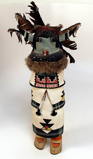 "05 - Kachinas and Dolls, Antique Hopi Kachina: Large Zuni Shalako (17"") c. 1940-1950, Hand Carved and Painted Cottonwood Root"