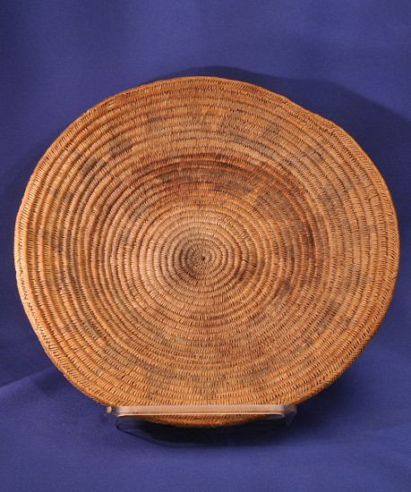 "02 - Indian Baskets, Navajo Basketry: c. 1940 Wedding Tray (12 3/4"" d) c. 1940"