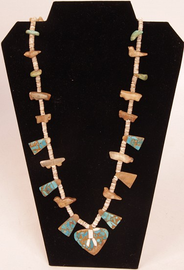 07 - Jewelry-Old, Earliest Zuni Fetish Necklace on the market Pre-1930